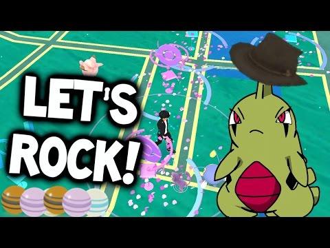 ROCK EVENT = INSANE!!! WE GOT LARVITAR & AERODACTYL SEVERAL TIMES! (Pokémon GO Rock Event)