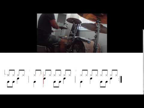 basic drumming with drum notation