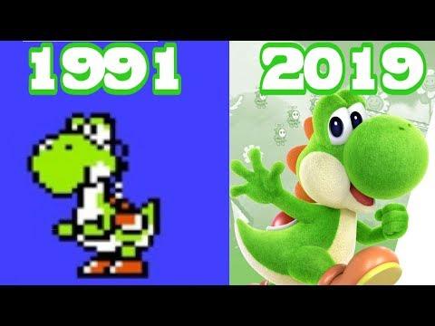 Graphical Evolution Of Yoshi Games (1991-2019)