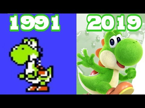 Graphical Evolution Of Yoshi Games (1991-2019)
