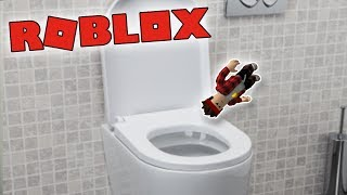 I FELL STRAIGHT INTO THE TOILET!! -ROBLOX Get Eaten!