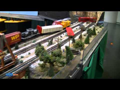Modelling Railway Train Scenery -Epic Runaway Santa Fe Model Train Crash At Full Power