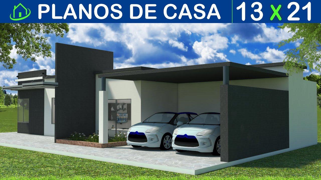 Dise os y planos de casa 1 piso minimalista con garaje for Casa minimalista de un piso