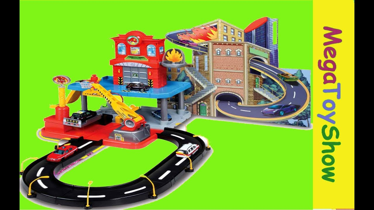 Boys Toys For All : Bburago fire street station playset toys for boys