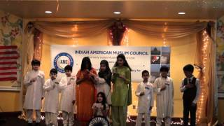 Children singing Sare Jahan Se Acha.. at IAMC Republic Day Event