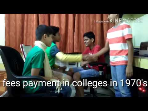 Fees payment in colleges then and now