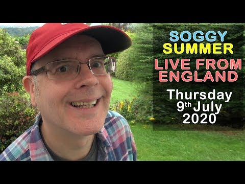 THURSDAY FUN / SOGGY SUMMER - LIVE from England / 9th July 2020 / Learn English with Mr Duncan