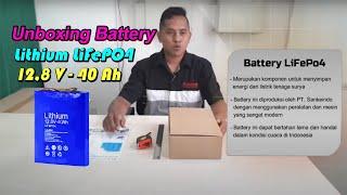 BATTERY PACK LITHIUM LIFePO4 12.8 V - 40 Ah