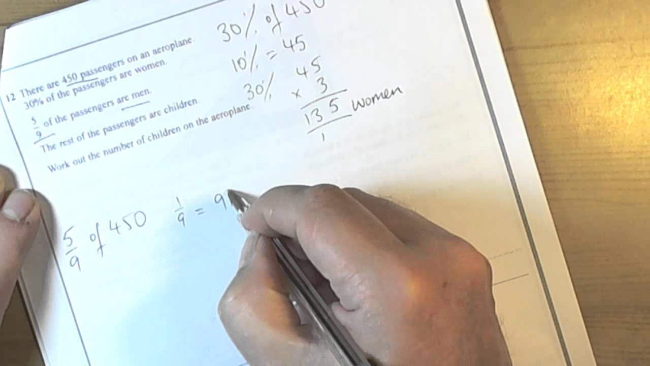Percentages And Fractions Of Amounts Gcse Mathematics Foundation