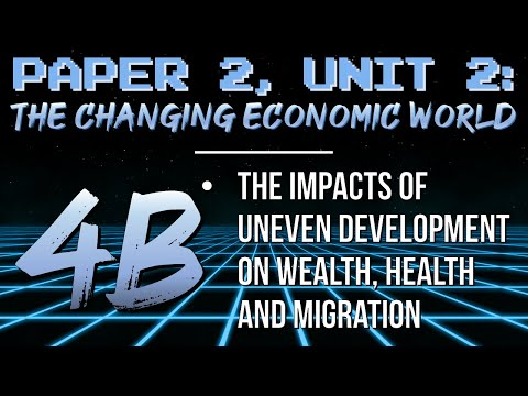 AQA GCSE Geography Revision CEW 4b: The Impacts Of Uneven Development (wealth, Health And Migration)