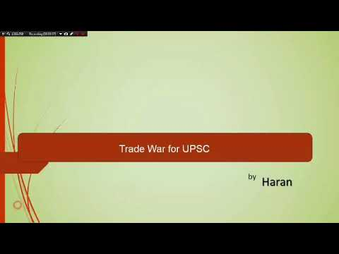 TRADE WAR Between USA AND CHINA - Detailed Explanation In Tamil For UPSC And TNPSC
