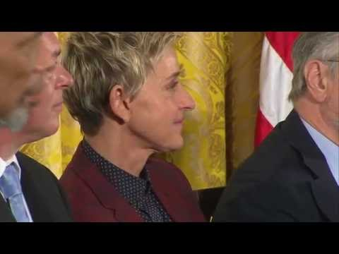 Ellen DeGeneres Receives Presidential Medal of Freedom