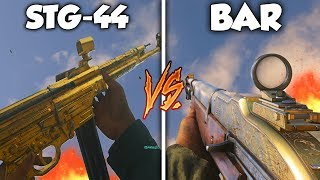 COD WW2 - STG-44 VS BAR! WHICH ONE IS BETTER?! (WW2 WEAPON COMPARISONS)