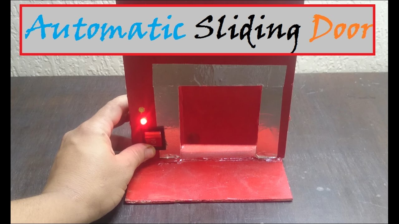 How To Make Automatic Sliding Door Easy Tutorial Youtube