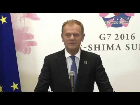 President Tusk at the G7 summit in Japan