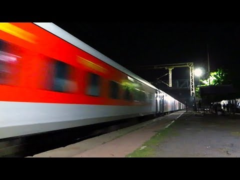 Whining WAP7 Cruising At Top Speed With Mighty Swaraj Express