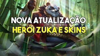 Zuka o novo herói e skins chegando - Arena of Valor