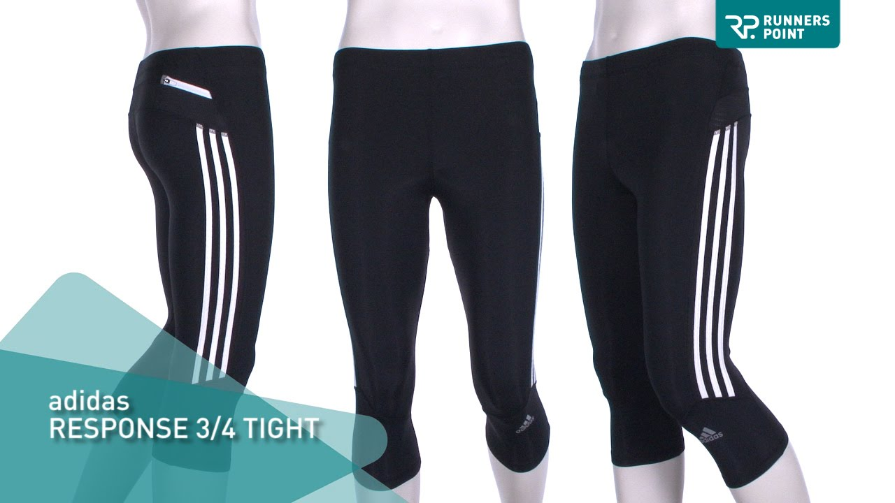 ff5ed0099c046 adidas Response 3 4 Tight Laufhose Herren - YouTube
