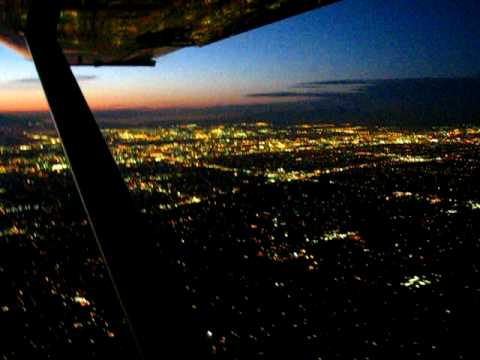Night Flight over south Salt Lake Valley