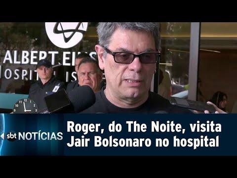Ainda internado, Bolsonaro recebe visita do músico Roger Moreira | SBT Notícias (12/09/18)