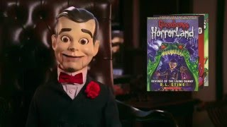 """Watch this clip with slappy and the cast of """"goosebumps"""" movie an exclusive amazon ebook offer!"""