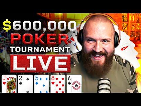 $800,000 Poker Tournament Live Stream (Part 1)