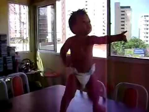 Brazilian Baby Dancing on the Table