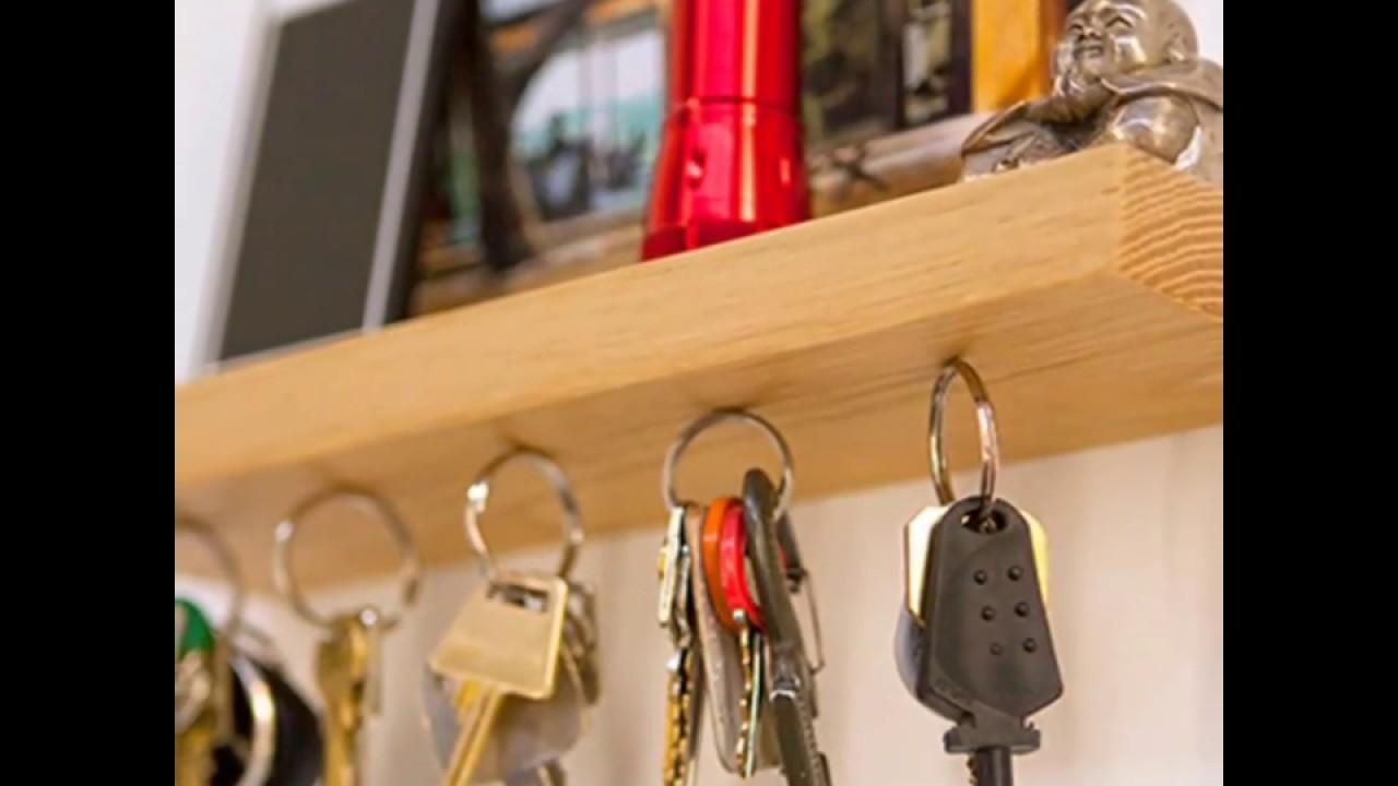 15 ideas de colgadores para ordenar las llaves porta llaveros youtube - Porta llaves pared ...