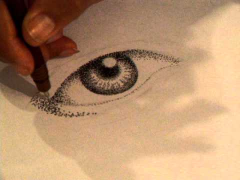 how to draw dot eye people