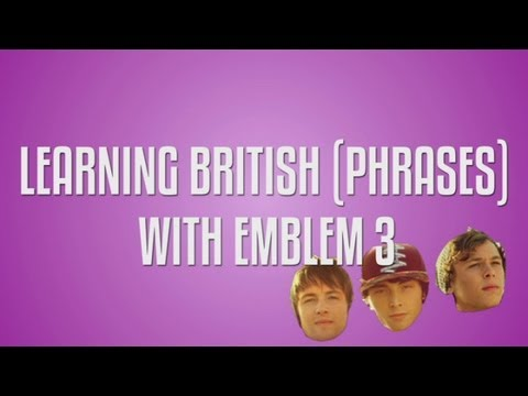Emblem3 British phrases game: The X Factor USA boys learn British phrases!