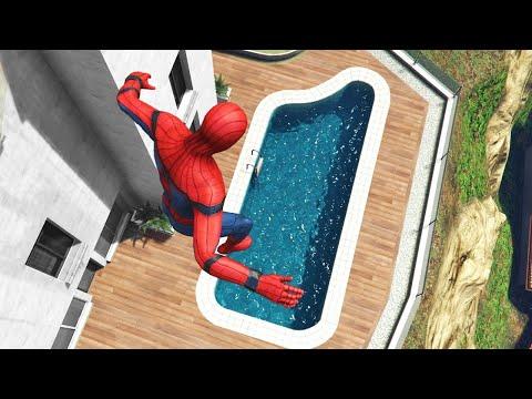 GTA 5 Water Ragdolls   Spider-Man ep.41 (Flooded Los Santos)