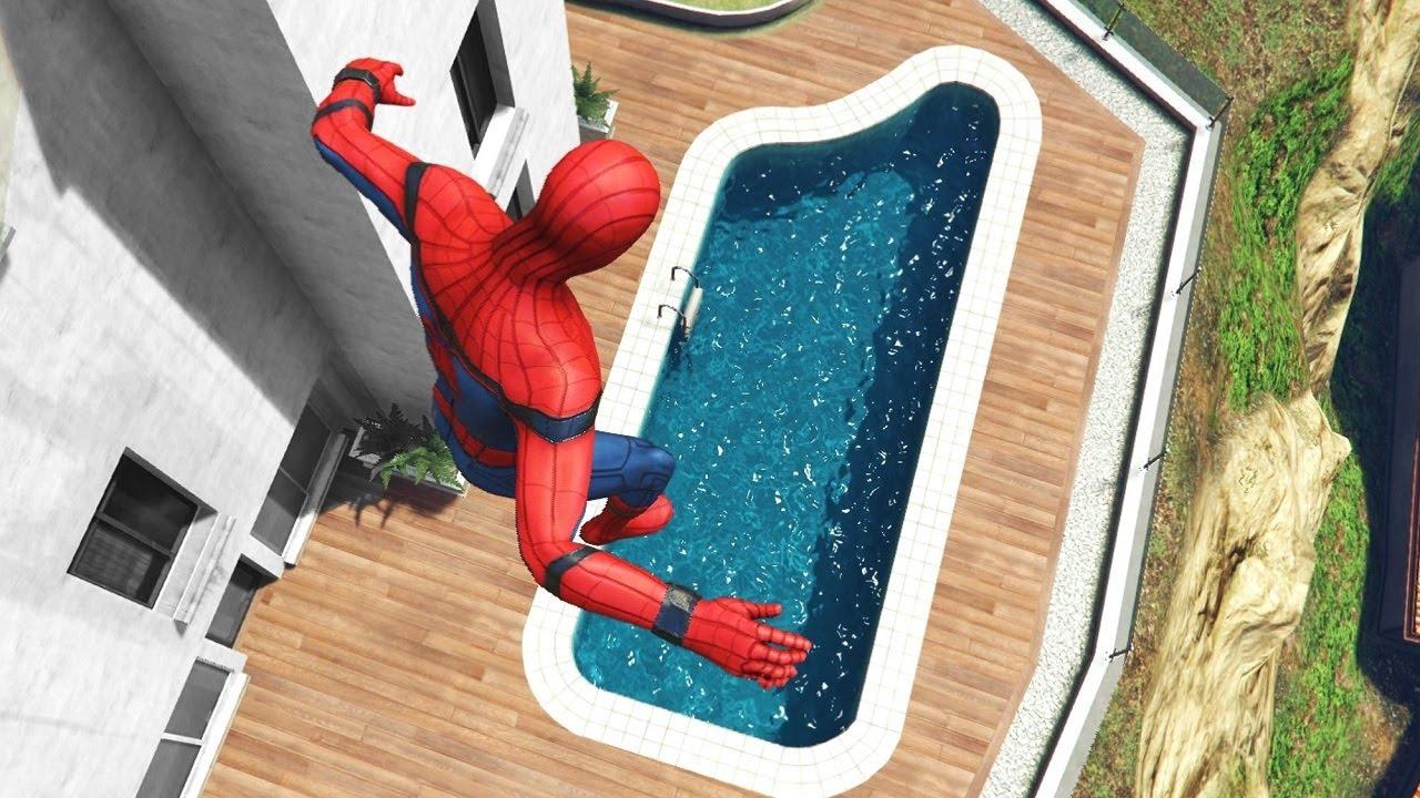 GTA 5 Water Ragdolls | Spider-Man ep.41 (Flooded Los Santos)