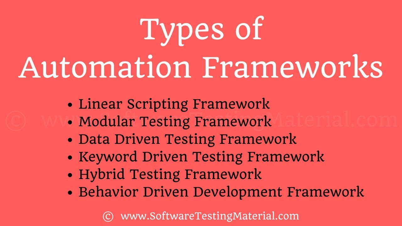 Types of Test Automation Frameworks | Software Testing Material