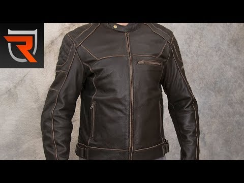 Cortech Dino Leather Motorcycle Jacket Product Spotlight Review   Riders Domain