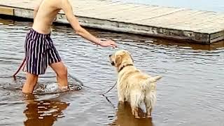Ruby pootje baden in Zweedse wateren
