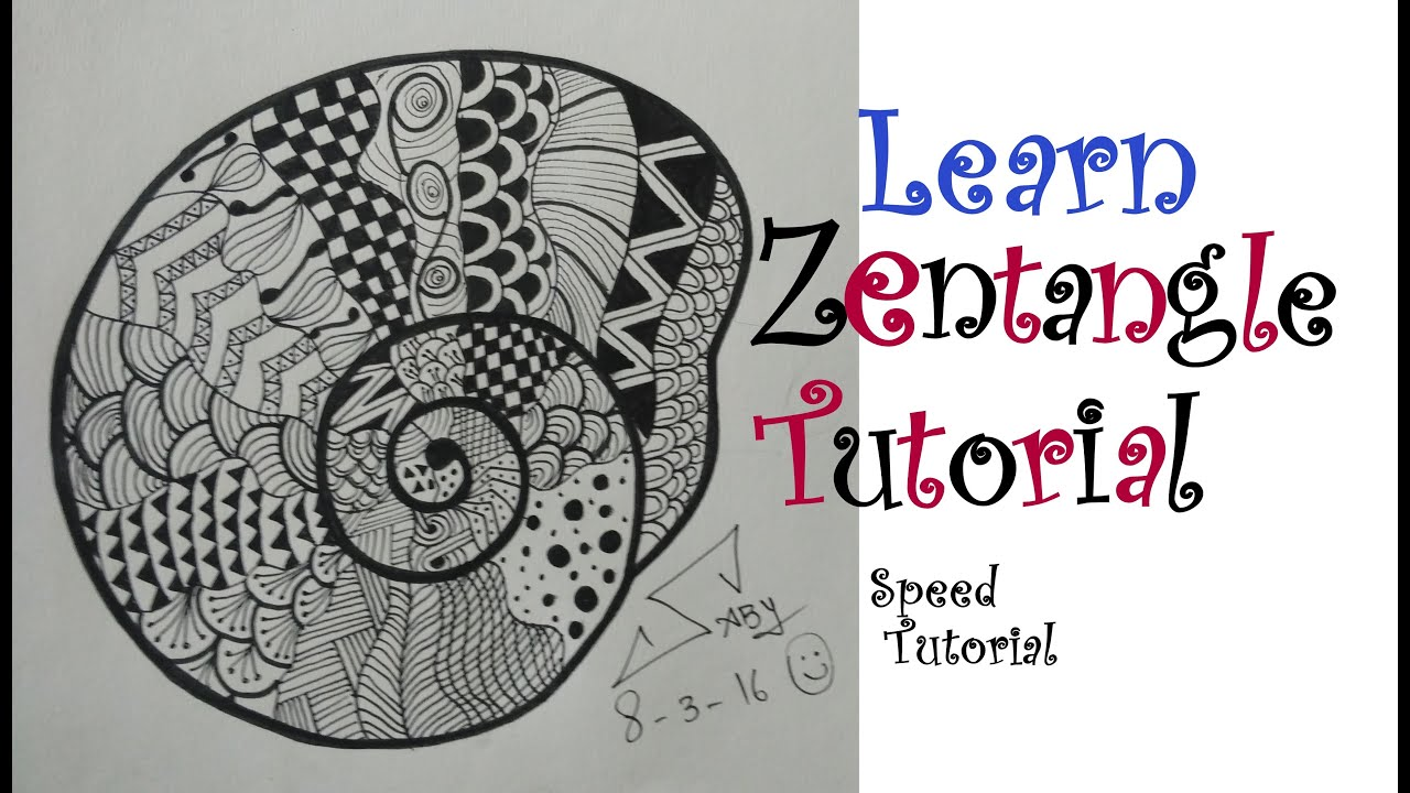 How to draw easy zentangle art design for beginners easy for Drawing patterns for beginners