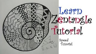 doodle zentangle easy draw step beginners drawing tutorial