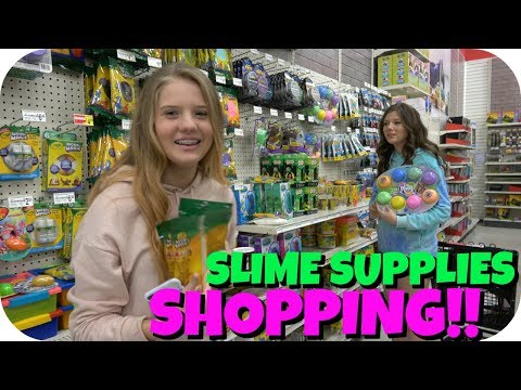 NO BUDGET SLIME SUPPLIES SHOPPING VLOG || SLIME SUPPLIES HAUL || Taylor and Vanessa