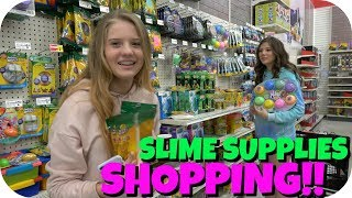SLIME SUPPLIES SHOPPING VLOG || SLIME SUPPLIES HAUL || Taylor and Vanessa