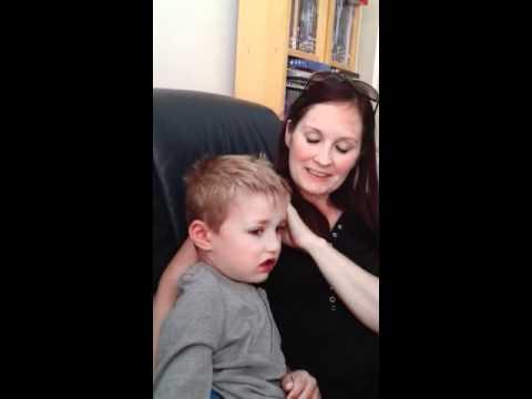 Little boy cries at E.T Film