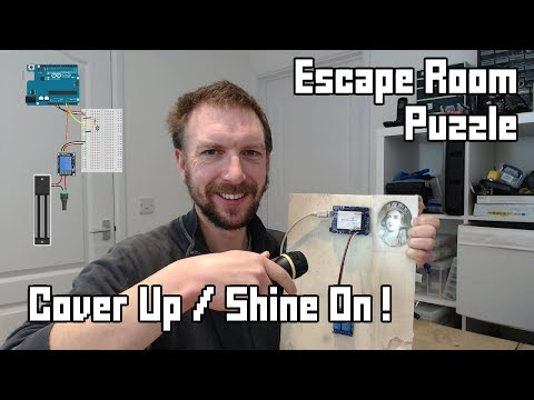 Cover Up! / Shine On! Escape Room Puzzle