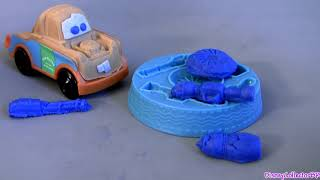 Play-Doh Cars 2 Mater's Undercover Mission Playset Review Buildable Toys Disney Pixar playdough toys thumbnail