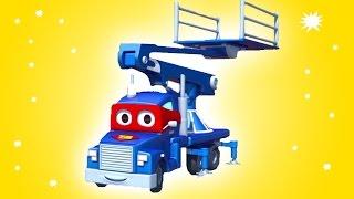 Carl el Super Camión y El balón de futból en Auto City   Dibujos animados para niños