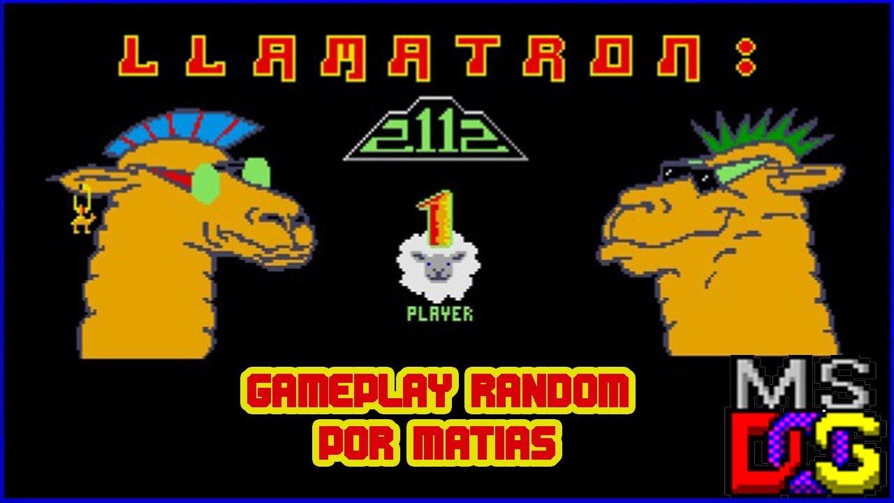 Matias juega Llamatron 2112 [MS-DOS] (edición random)