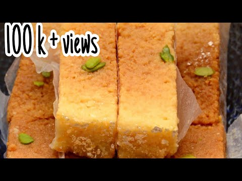 Milk Cake with Ghee leftovers/ Best out of waste Milk cake recipe/ Best use of Ghee leftovers
