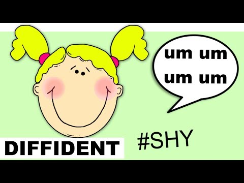 Learn English Words - DIFFIDENT - Meaning, Vocabulary Lesson with Pictures and Examples