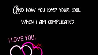 Avril Lavigne - I Love You (Lyrics On Screen) HD
