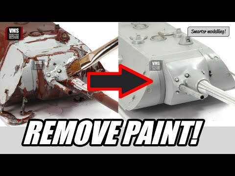 How to remove paint from plastic model - VMS Clean Slate paint stripping tutorial