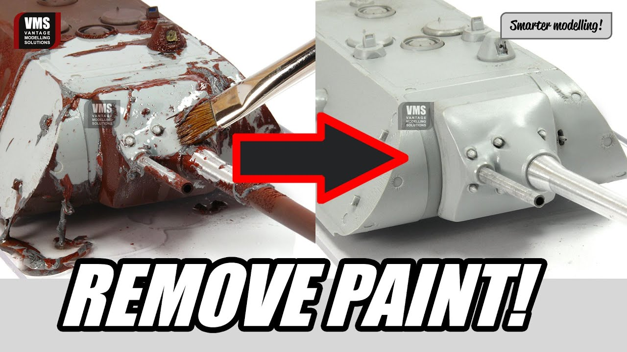 Model Paint Remover How to remove paint from plastic model - VMS Clean Slate paint stripping  tutorial