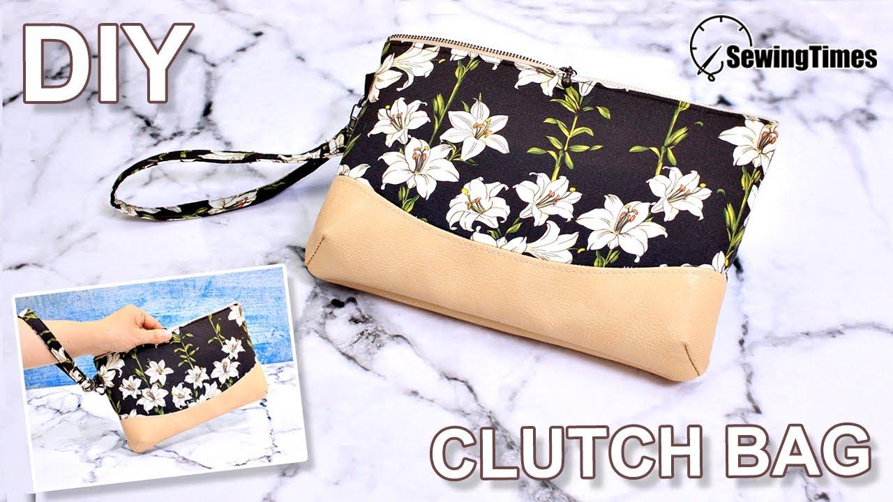 Zippered Pouch Wristlet Fabric Clutch